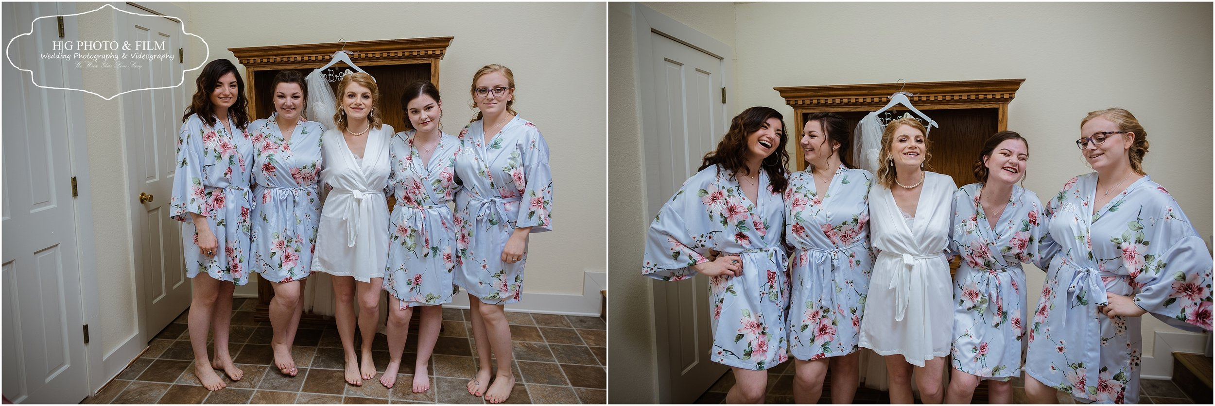 Love the robes she choose for her bridemaids