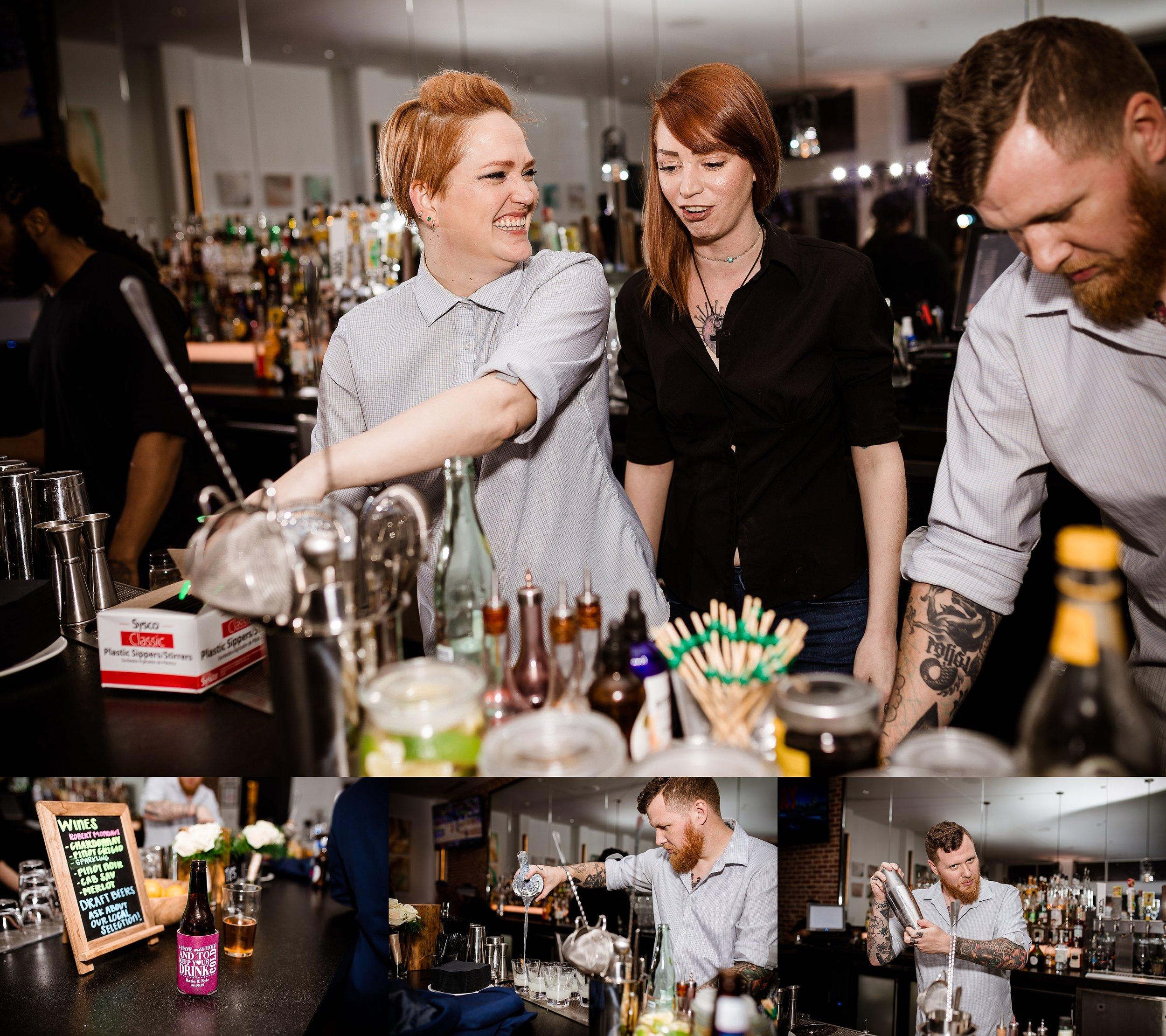 Behind the scenes making those drinks!