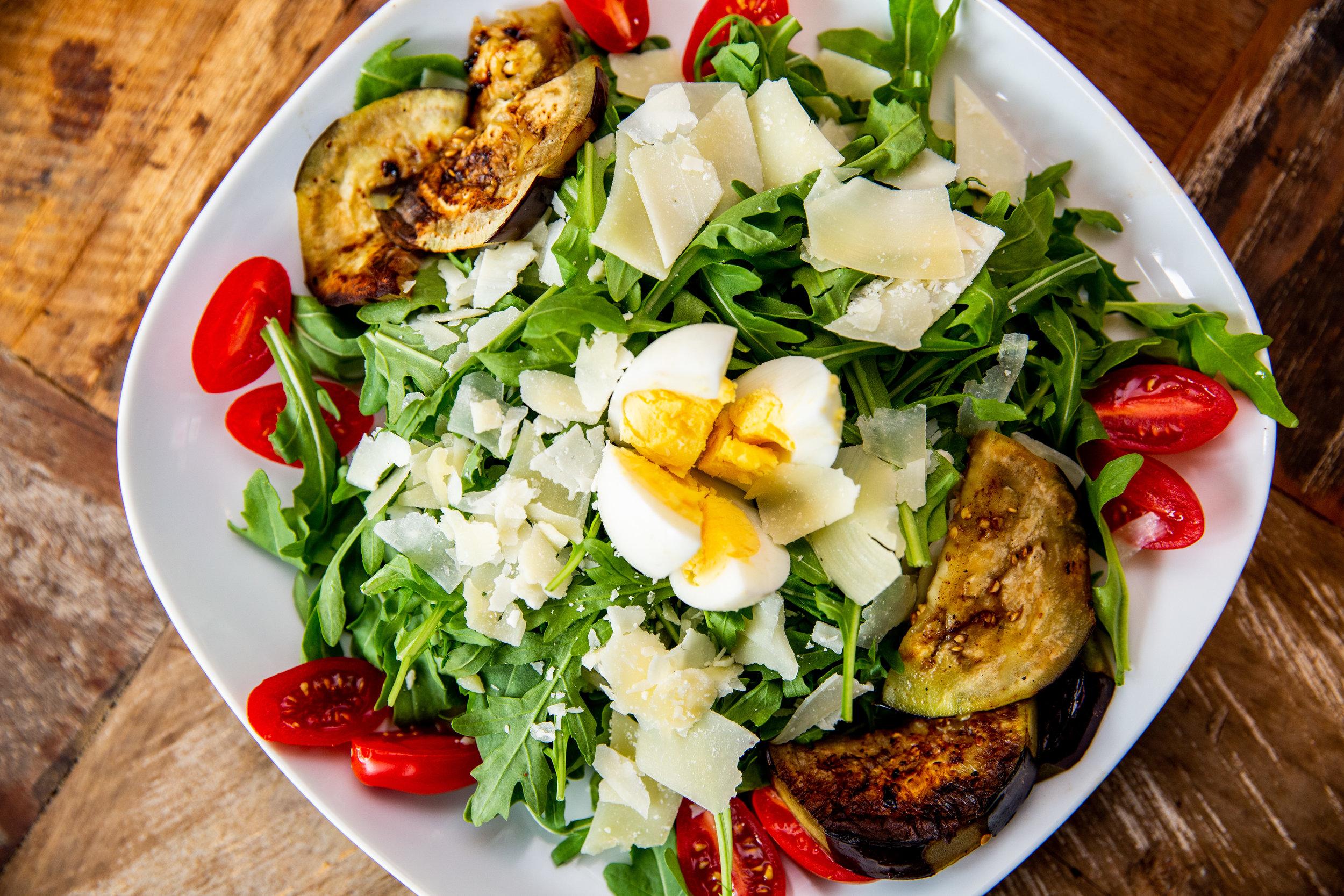Eggplant & arugula Salad