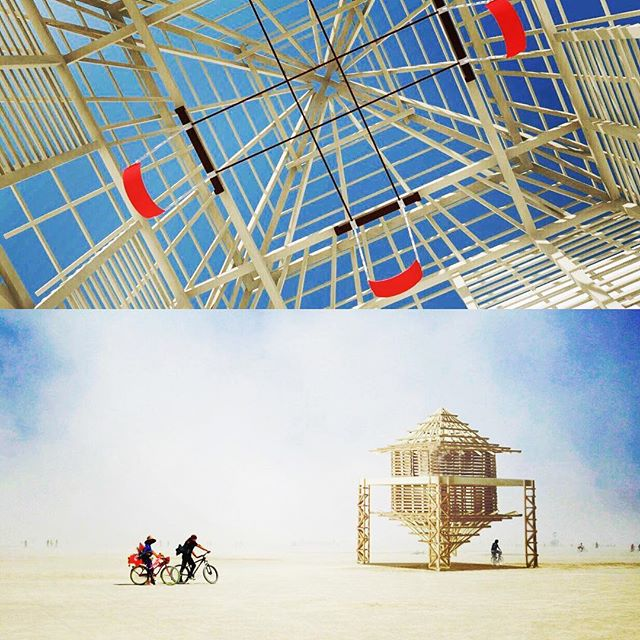 ALUNA, an interactive installation designed for Burning Man 2017. Check out this stunning international collaboration and back our team's Indiegogo through the link in bio 💙 Yes, those are swings that hang from the ceiling. 🙄🔥🙄🔥🙄🔥 #burningman #interactive #installation #art #exploration #balance #struggle #structure #experimental #composition #spatialized #ableton #indiegogo #losangeles #burners #colombia @kikaluca @rebekcavictoria @xxtinaaastina @daviduhgeela @_anamanu_