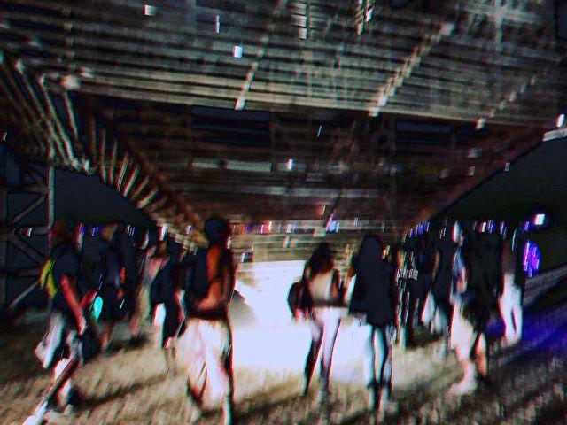 Beautiful humans visiting Aluna at night. 🌙 •• •• #soundart #albumcomingsoon #wemissyouburners #fbf #alunaburningman #interactiveinstallation #collaboration #colombia #losangeles #burningman2017 #mothstotheflame #love #art #architecture #music #interdisciplinary