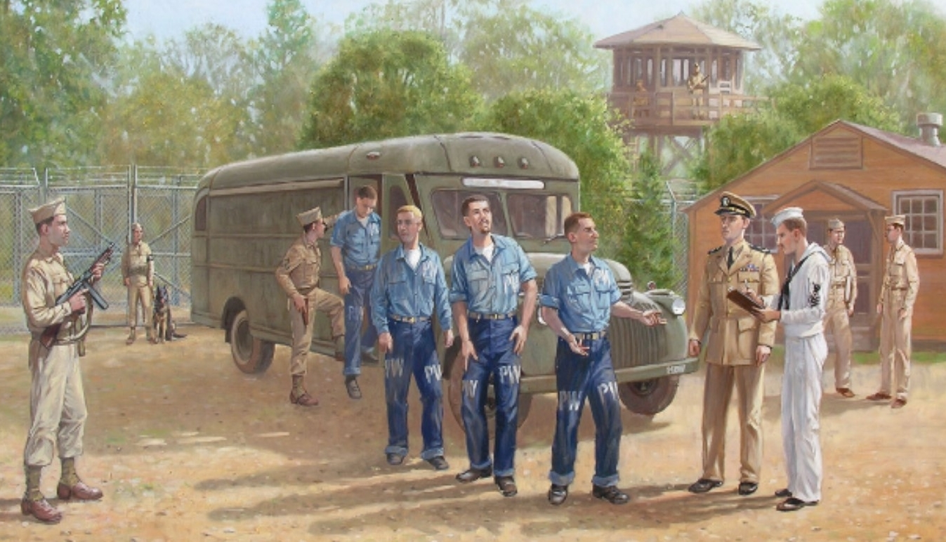 Special Delivery: POWs arrive at P.O. Box 1142 during WWII - Photo Credit: NPS