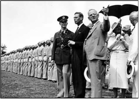 The King George VI and Queen Elizabeth of England Visit CCC Camp NP-6 in 1939 — Photo Credit: NPS