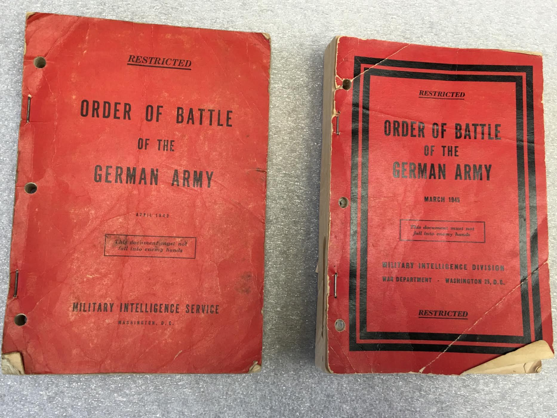 Red Books from 1942 and 1945- Photo Credit: Dorothy Canter