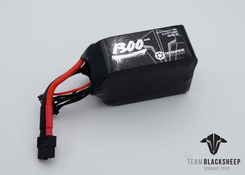 TBS GRAPHENE 1300MAH 6S Lipo Battery 75C 22.2V