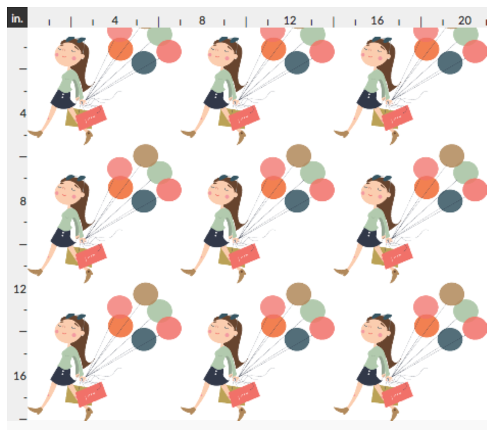 """Shopping Girl"" fabric or wrapping paper can be found in  my Spoonflower Shop  ."