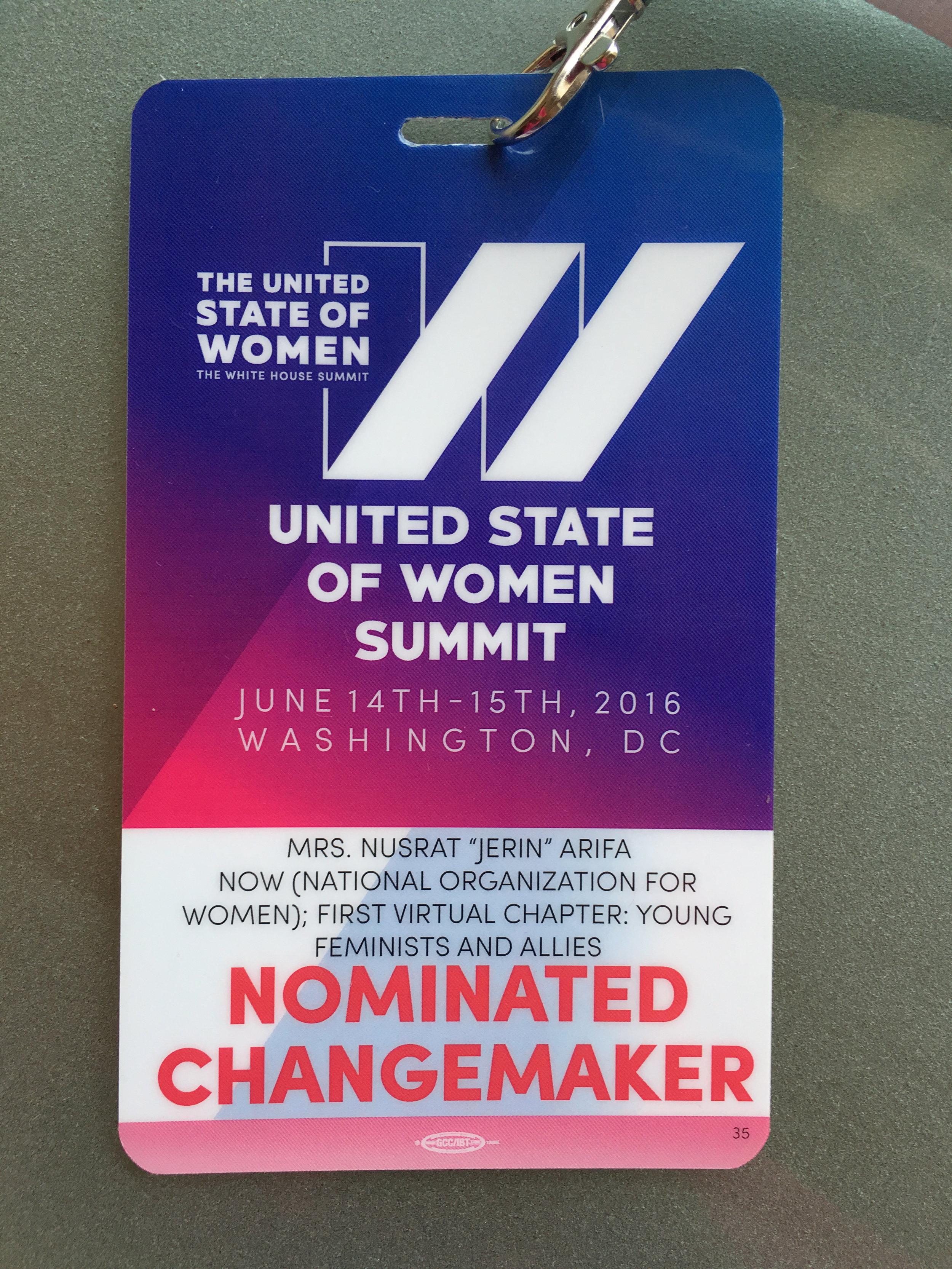 White House: Nominated Changemaker