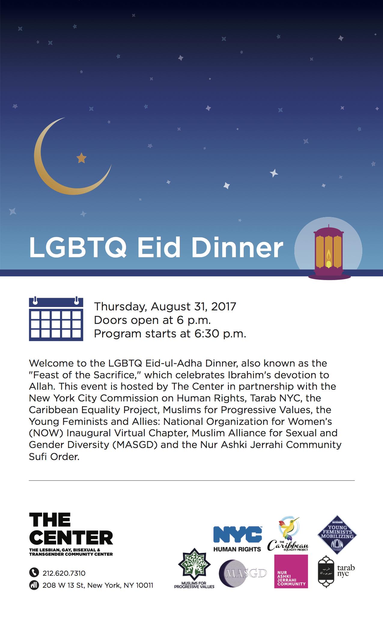 Organizer: LGBTQAI+ Muslims & Allies Eid-Ul-Adha Dinner