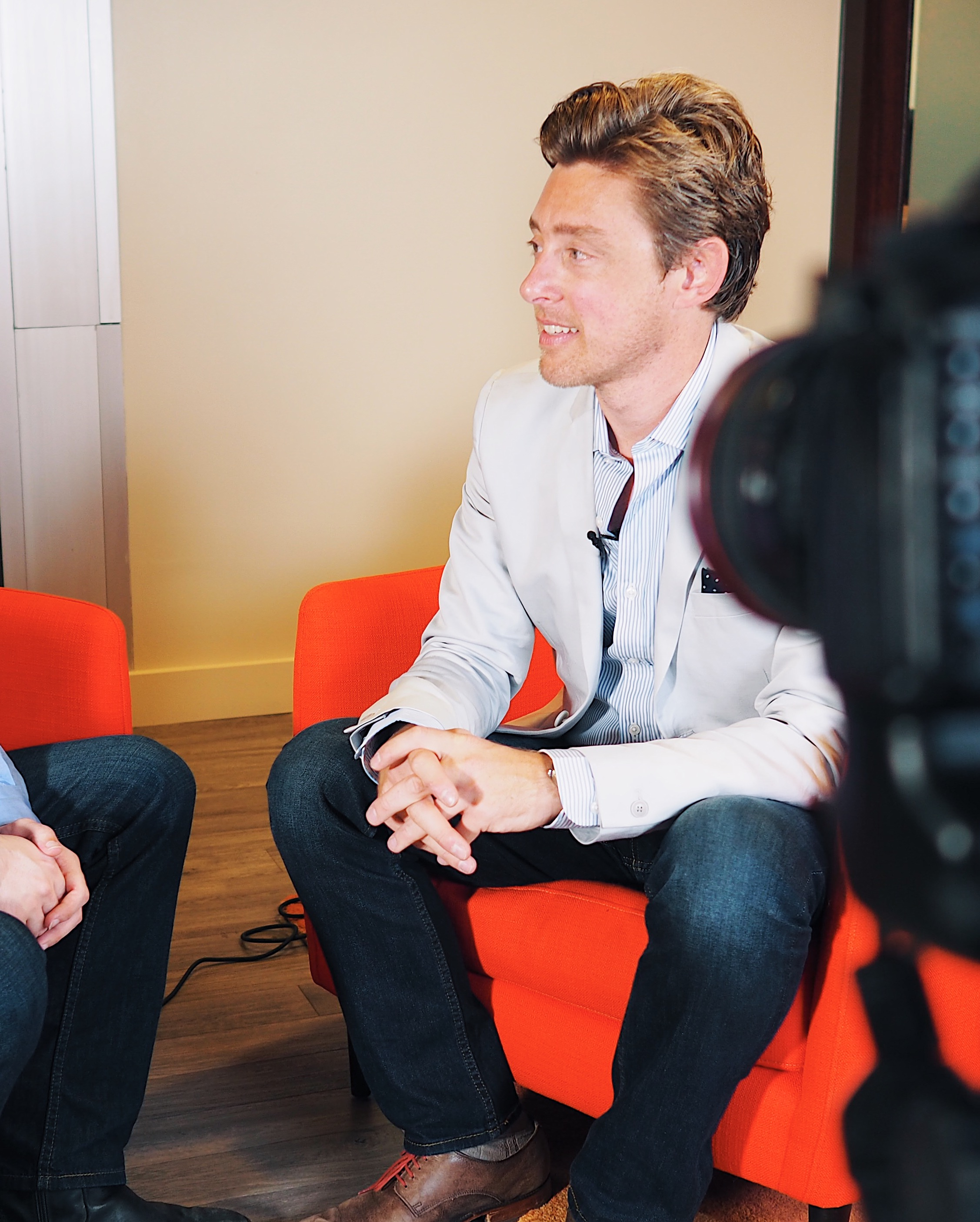 My getting interviewed photo.  Download