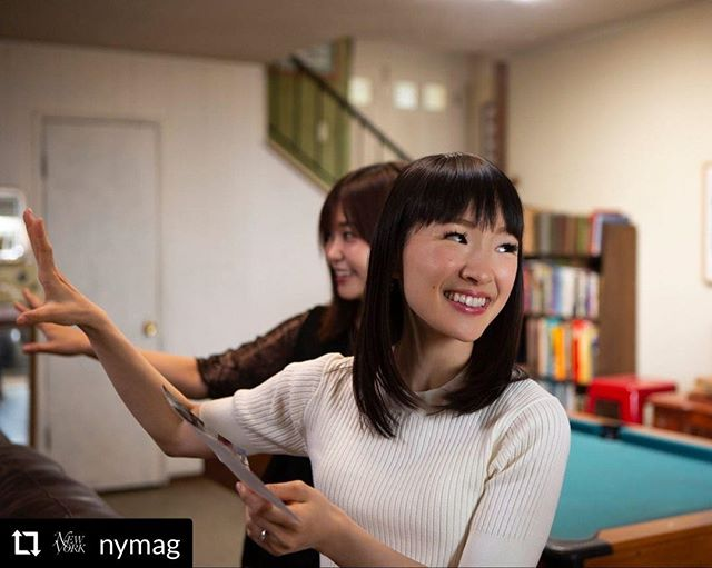 "#Repost @nymag - - - - - - Most of us have way, way too much stuff. Enter @mariekondo, the only living person who can claim with any authority to be a ""decluttering guru"" who for the past decade has been on a mission to organize the world. Her books have sold 11 million copies in more than 40 countries, and now, just in time to help with your New Year's resolution to organize your life, she has a new Netflix series, Tidying Up With Marie Kondo. @vulture went behind the scenes on the set of the new series to get a glimpse of how Kondo translated her KonMari Method to TV, and you should tap the link in our bio now to read their full piece on Kondo's rise to organizational guru status, and how her ""Tidying Up"" series came together. 📷: Denise Crew/Netflix"