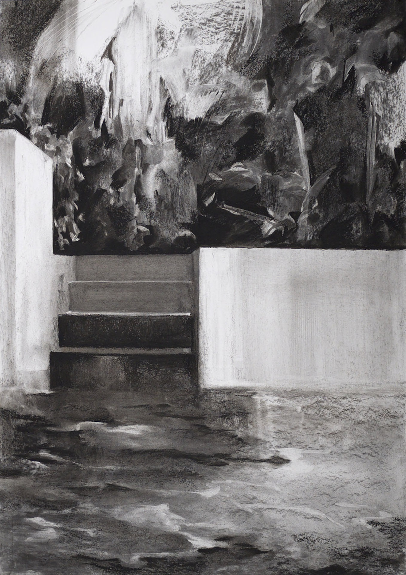 Study for Private Paradise, 2015, charcoal on paper, 84 x 59cm (private collection)