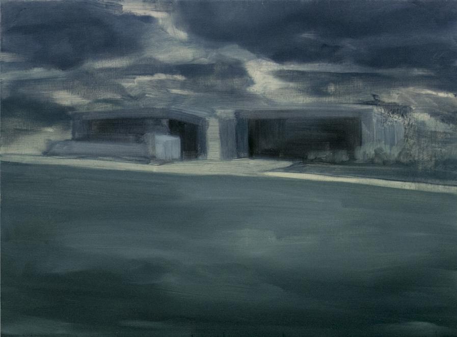 Facade Sketch, 2014, oil on board, 30 x 45cm (private collection)