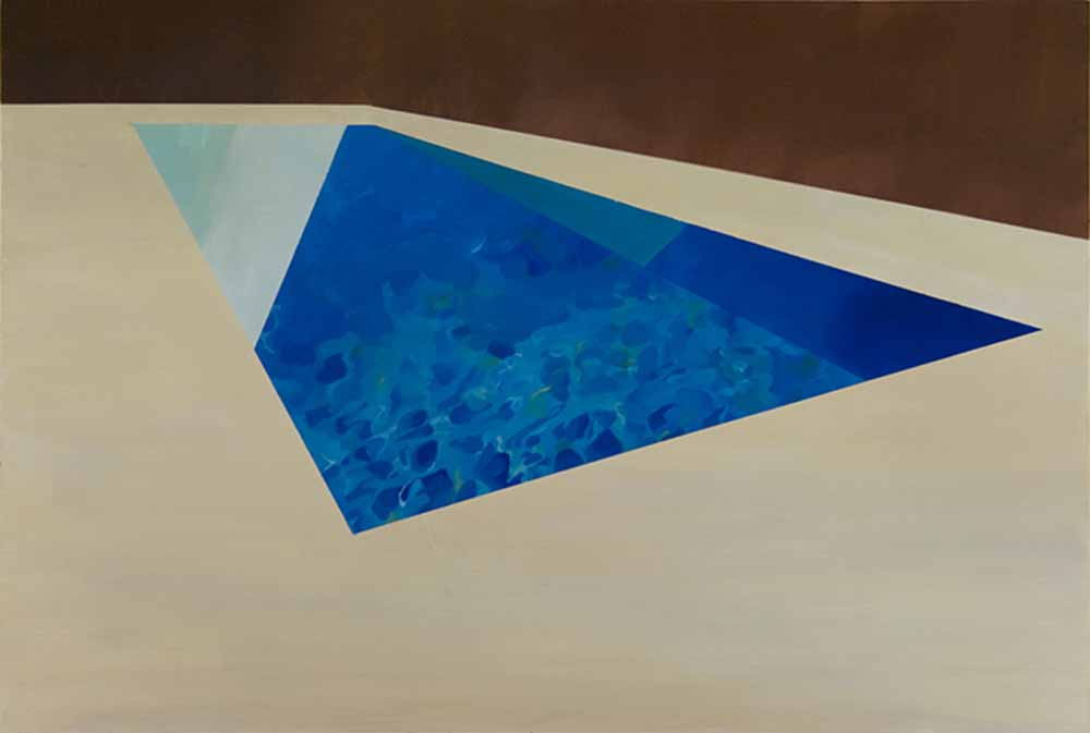 Swimming Pool V, oil on canvas