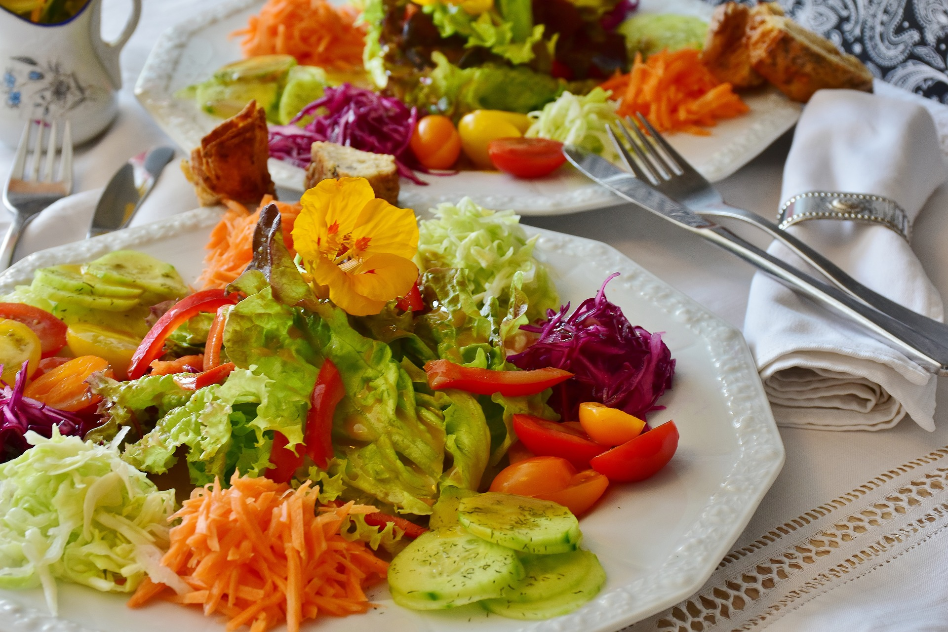 German salads are the best and usually served before the main meal