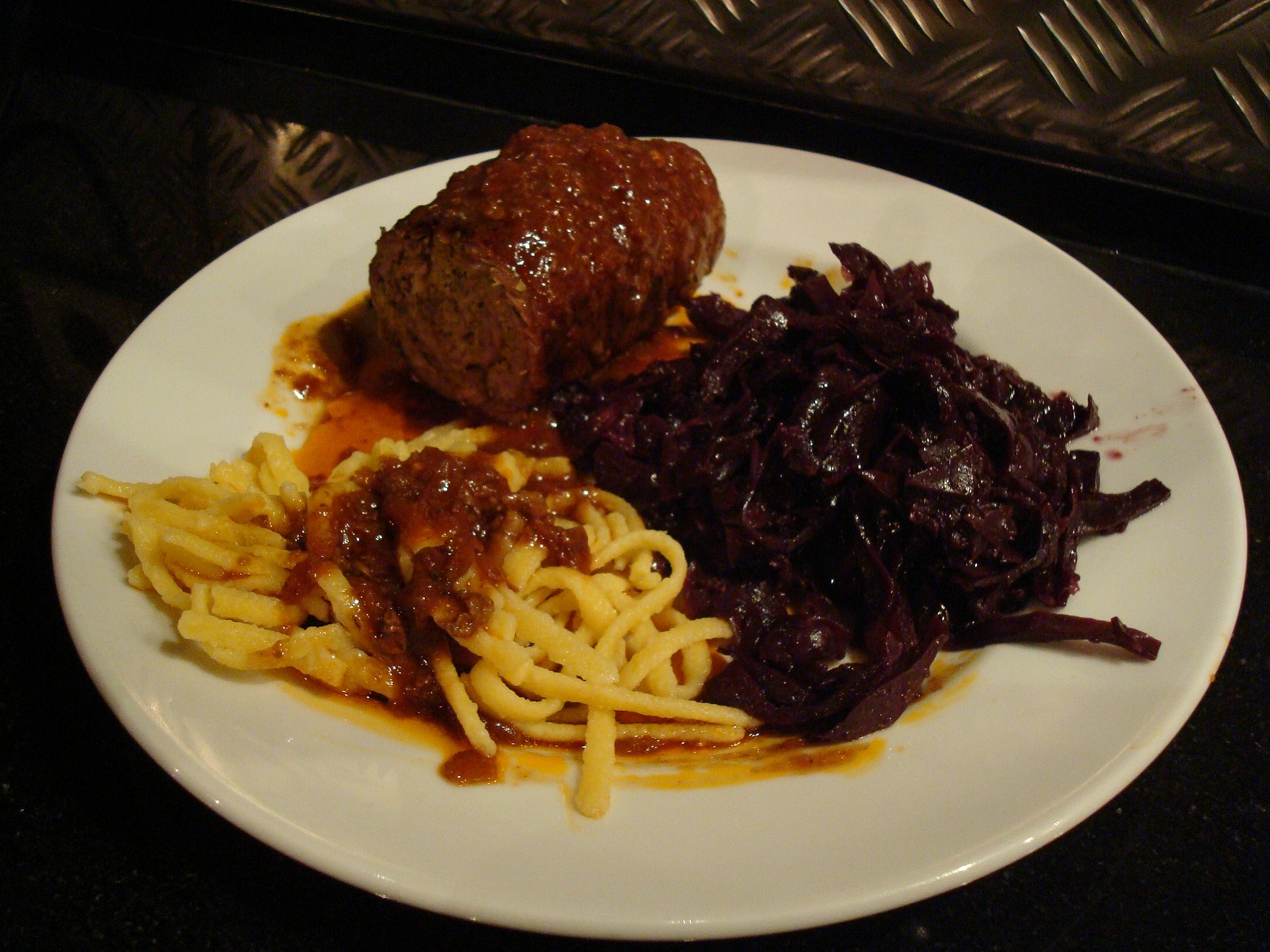 Most meats are served with a healthy portion of fermented cabbage