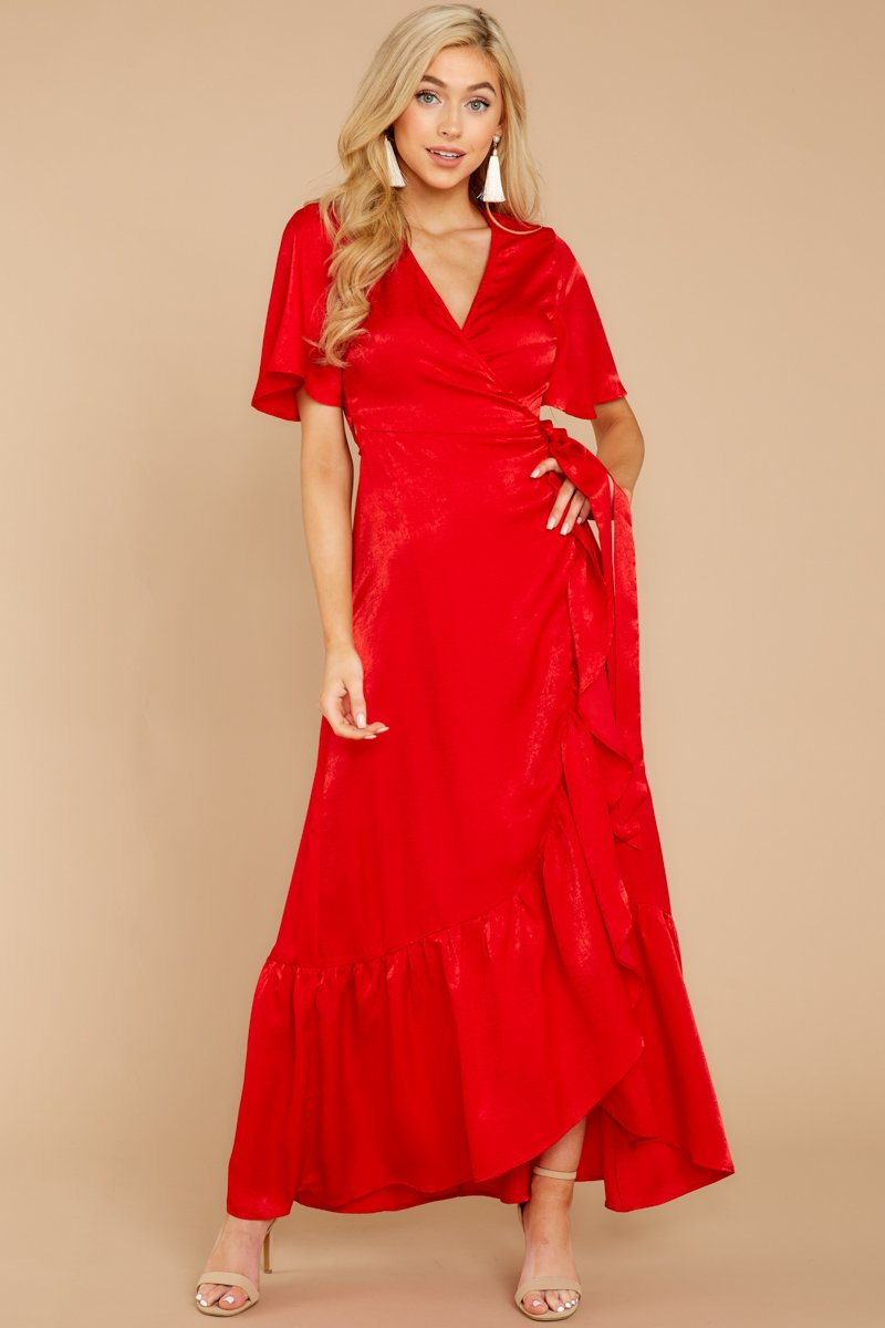 Image result for Red long dress for date night