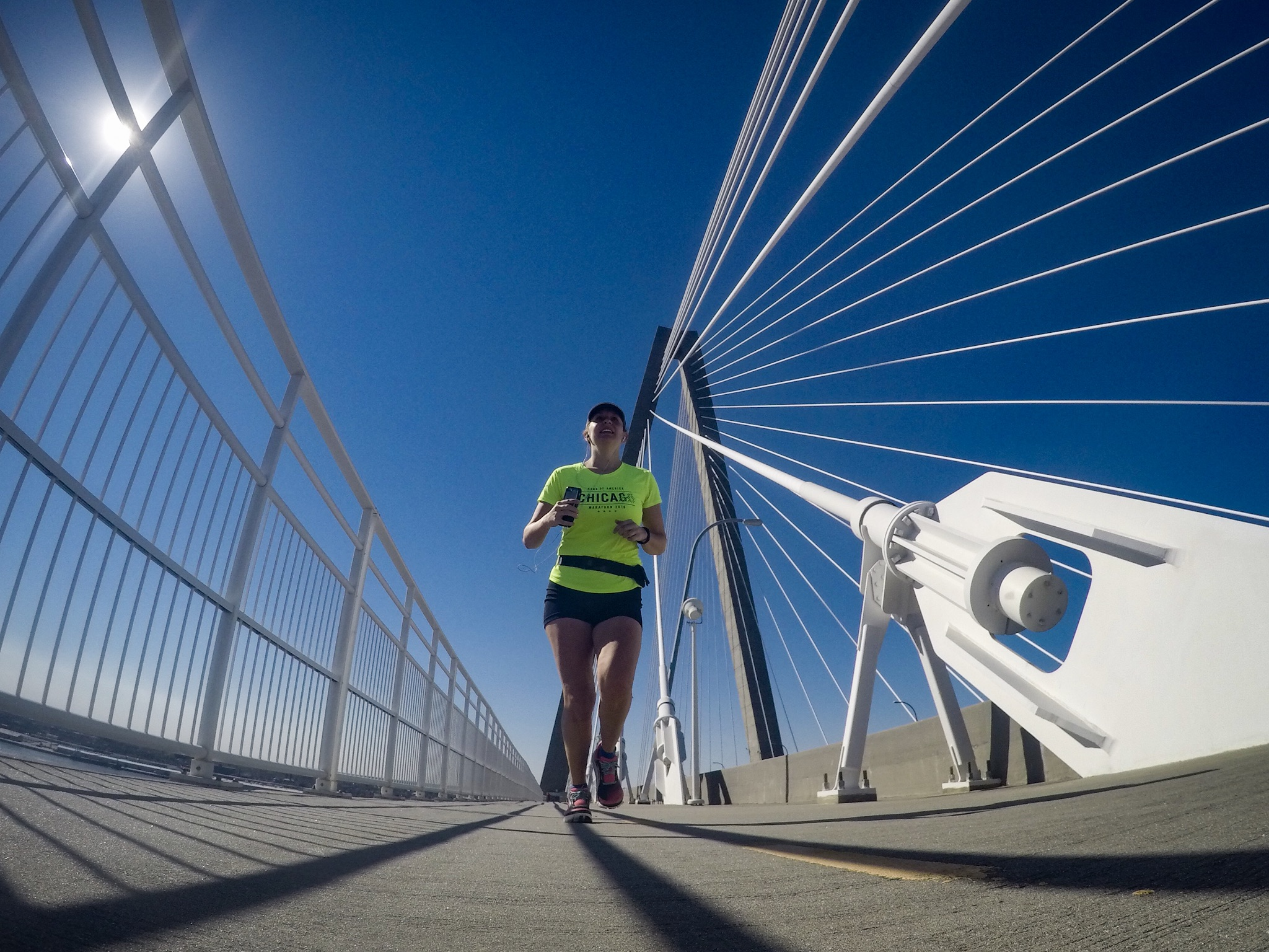 Part of the East Coast Greenway is the Arthur Ravenel Jr. Bridge, the bike/ped lanes being dedicated to Garrett P. Wonders, a cyclist who was killed during training for Olympic Trails. The stretch is known today as Wonders Way.
