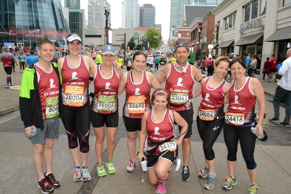 Team BIG 98 at the 2014 Nashville Rock N Roll Marathon (previously known as the Country Music Marathon) start.