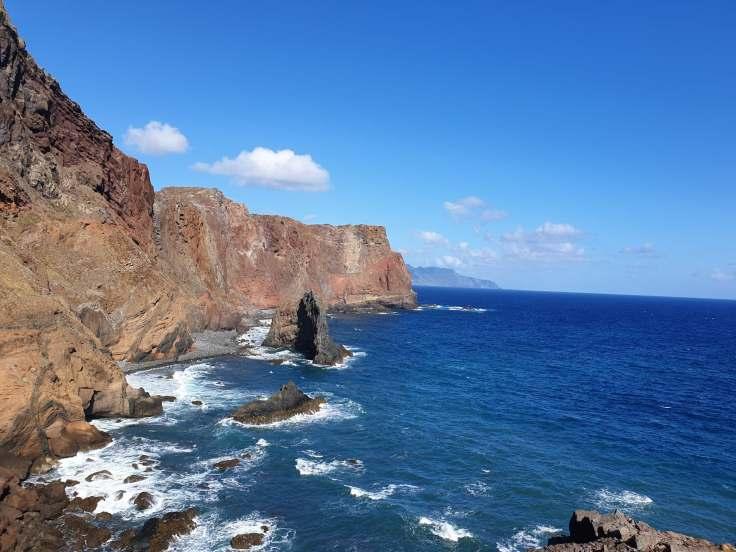 Watching the beautiful views at Ponta de St Lourenco Peninsula