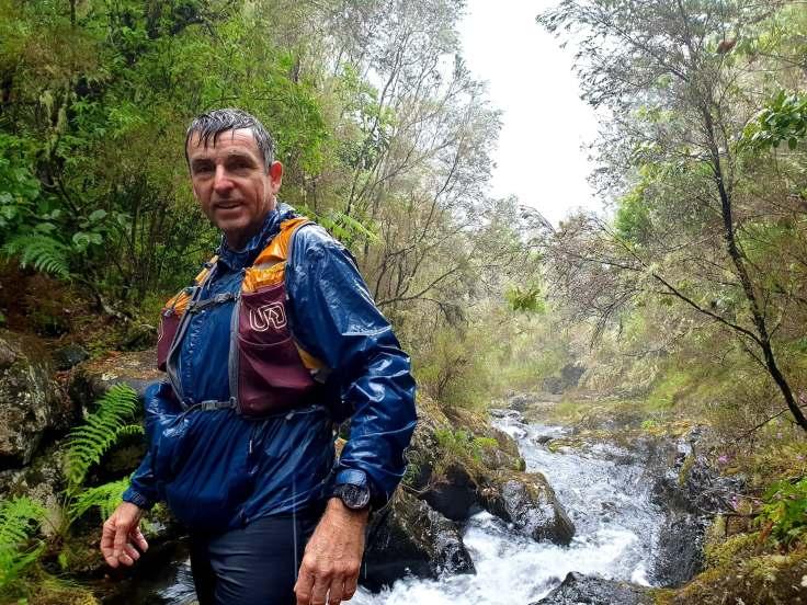 Paul enjoying the rain at Levada
