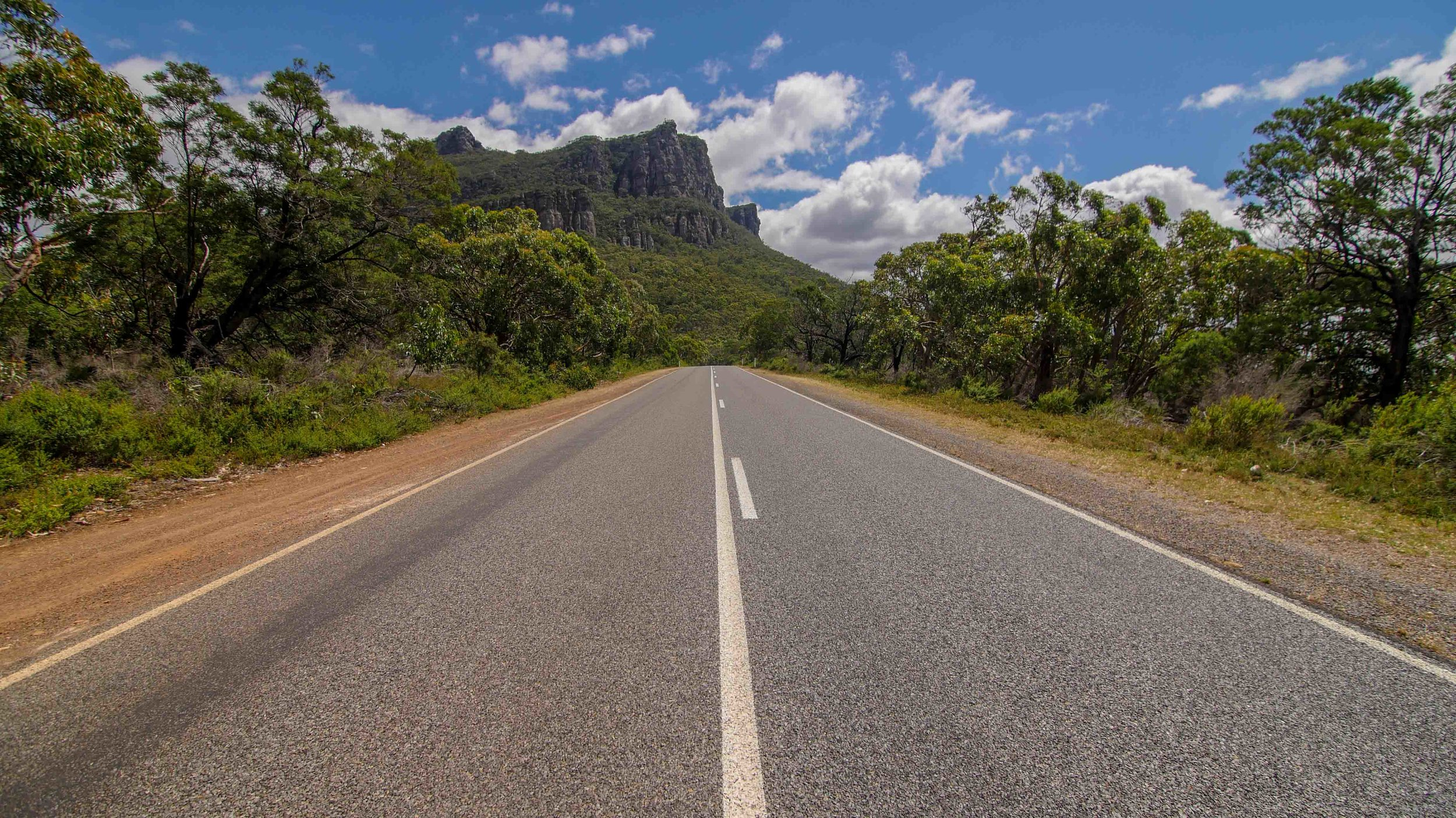 Entering the Grampians National Park