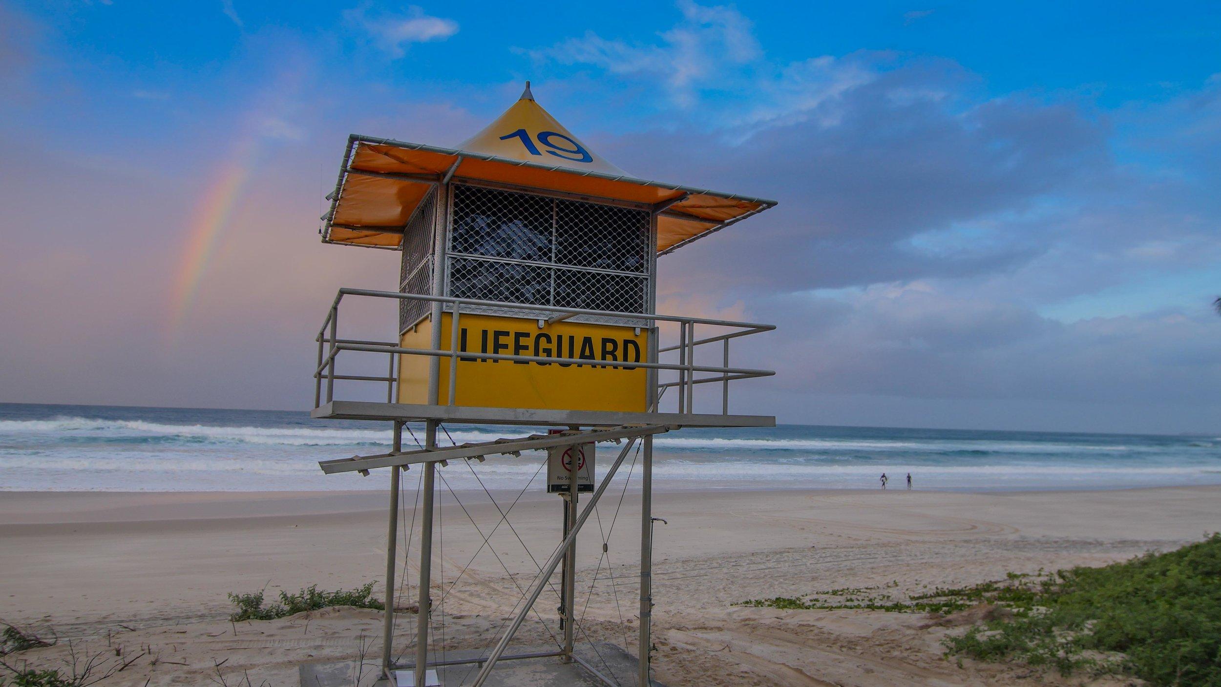Gold Coast Lifeguard tower 19, Burliegh Heads, GOld Coast, Australia