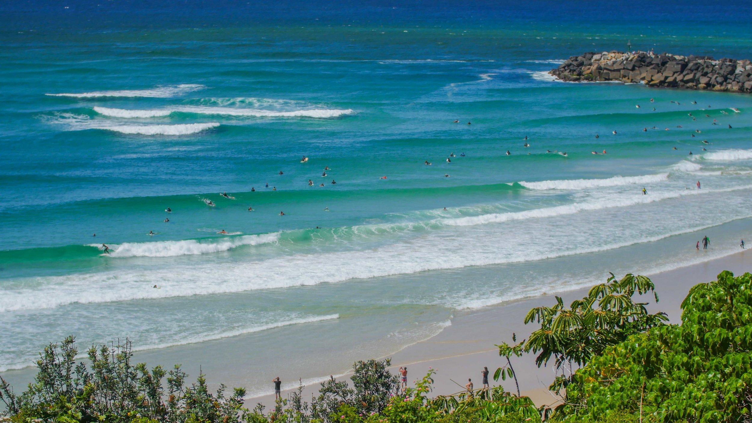 D-Bah surfing, Gold Coast