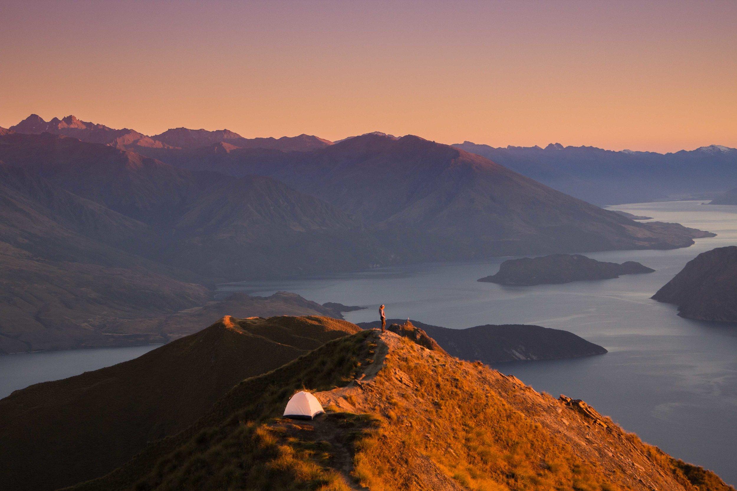 Roys Peak Camping, Wanaka, New Zealand