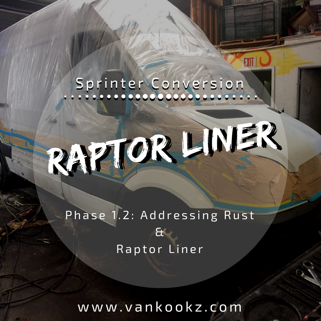 Addressing Rust with Raptor Liner - Phase 1.2 - Here we address some rusty problem spots on the van and we Raptor Line a trim line to prevent future rust