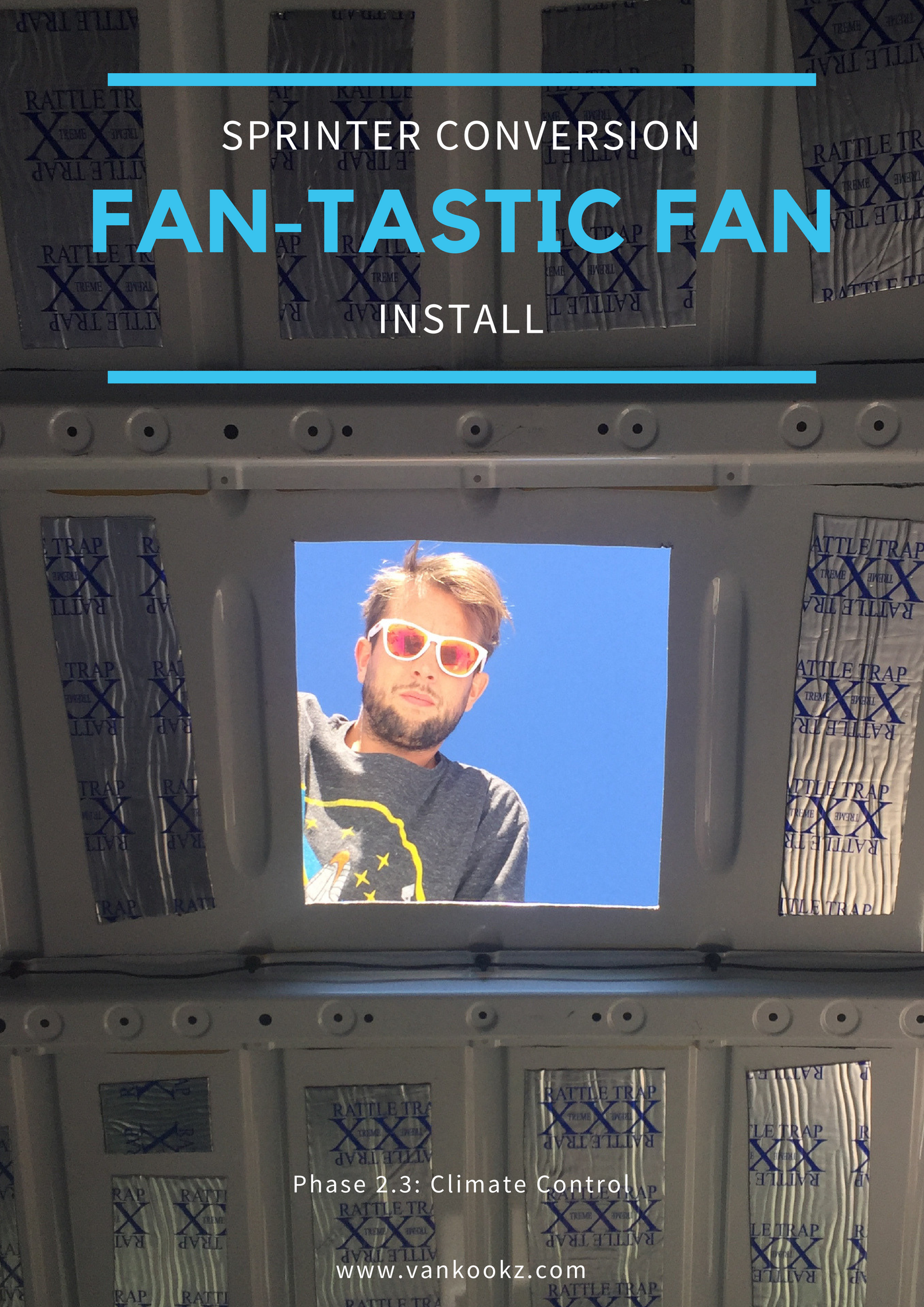 DIY Fantastic Fan Install - Phase 2.3 - The first hole in the van is an intimidating task, but that van won't build itself. So click read more and start that daunting task of cutting that first hole in the van.