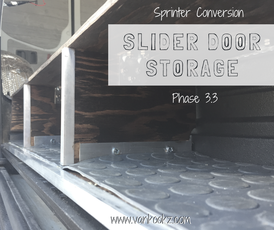 Adding Slider Door Storage - Phase 3.3 - Dani has a lot of shoes and clothes. No matter how much she downsizes, she still needs more space to organize her things. Utilizing all the dead space, even when it seems small and insignifigant, it always comes in clutch!