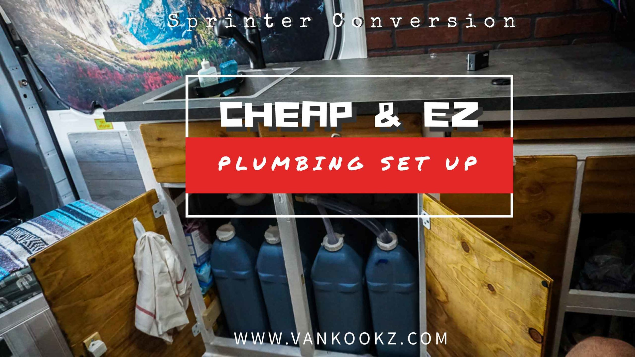 Cheap and Easy Plumbing set up in the Van - Phase 7.3 - Here, Kevin goes over our plumbing set up. It is a cheap and easy plumbing set up for those of you not looking for the commitment of under-mounting some tanks.
