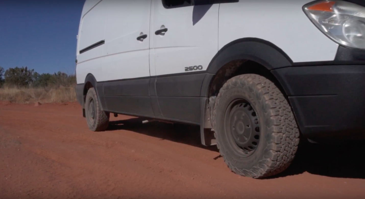 Best All Weather Tires for Sprinter? - When we got the van, the first thing we noticed we would have to address after the rust, was the tires. The tread was barley there. We wanted some more aggressive off-road type tires that might help keep us out of sandy situations we might find ourselves on those dirt BLM roads. Here's what we went with...