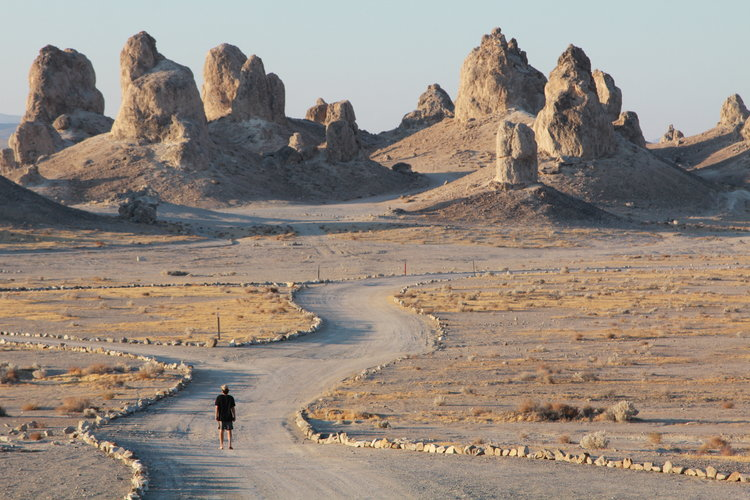 Trona Pinnacles - Trona Pinnacles is some of the most bizarre random in the middle of nowhere landscapes we experienced. This place was all ours for the stop over.