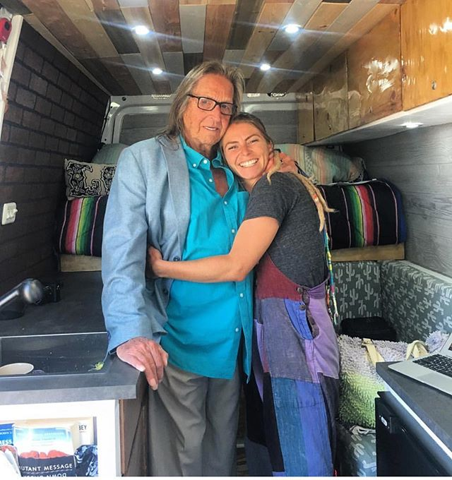 Had to repost this photo from yesterday.  @dani_dukes hanging in the van with #BostonGeorge while we were filming on location for the @docuseries_bostongeorge in San Diego Yesterday.  George is all about the Vanlife and originally used RVs to smuggle marijuana across the United States.  So that makes him an OG #vanlifer.  We are working hard on the documentary and there have been some amazing stories along the way.  I'm very blessed to be working with an amazing crew on this project.  It was a pleasure to have you aboard with the @vankookz George. #vanlife #vanlifediaries #vanlifemovement #georgejung