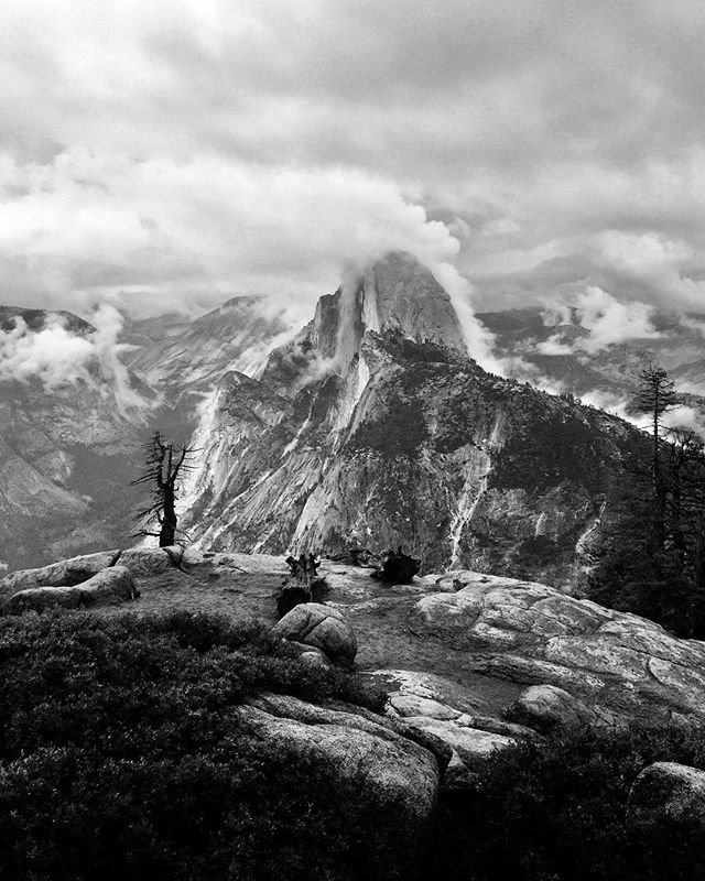 Getting my #anseladams on with a moody #halfdome