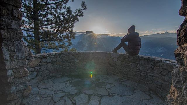 Waiting for the sun to rise from our private balcony on top of the clouds. . . . . #yosemite #glacierpoint #halfdome #vanlife #vanlifediaries