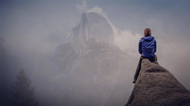 Insert inspirational quote here ..... @dani_dukes . . . #yosemite #glacierpoint #halfdome #california