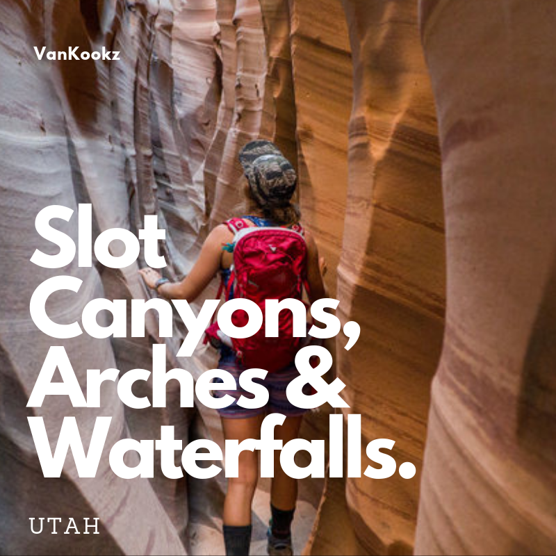 Slot Canyons, Arches & Waterfalls, oh my! - Utah is known for it's slot canyons. For the lack of water found in Utah, it is hard to believe that this magnificent landscape was created by water. Read on to see some of our favorite and easily reachable vistas in Utah!
