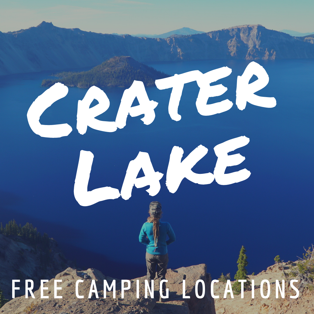 Free Camping near Crater Lake - Are you visiting Crater Lake and you are looking for a free spot to stay near the deepest lake in the United States and the 9th deepest lake in the world? Yeah, we were too! We scoped out a couple. One on the NorthSide and one on the South Side. Read More!