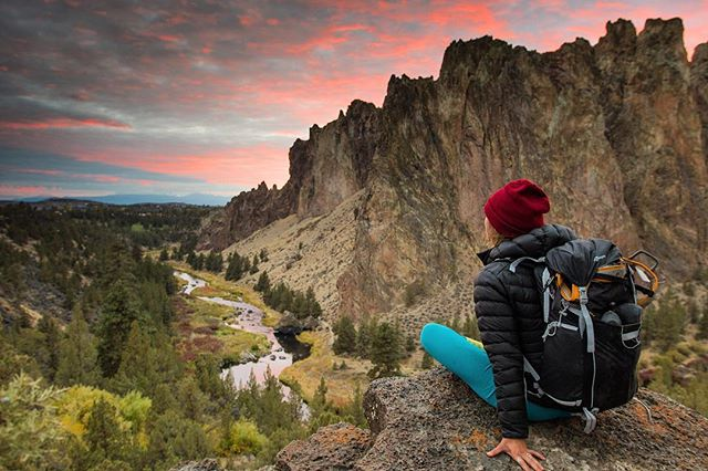 Few weeks back at Smith Rock enjoying the sunset after a great day climbing with the @vanningaintnojoke and @freetired miss this crew and climbing all the time.  Let's do more but somewhere warm! Who's keen? #vanlife #oregon