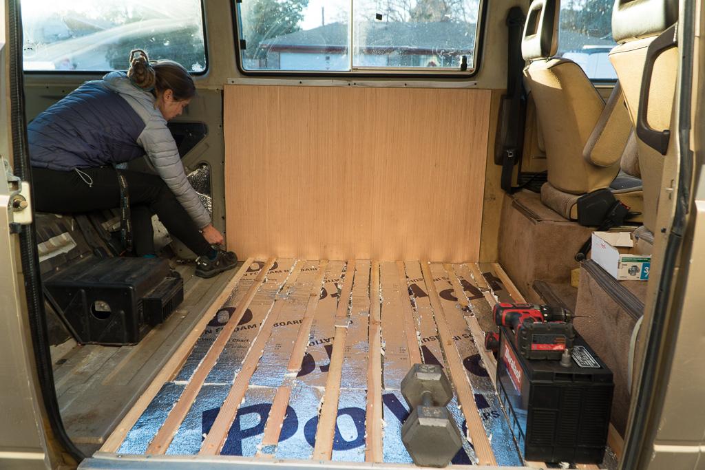 Van Floor Insulation finished