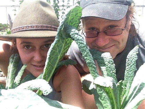 Jessica Patton and Ken Armstrong, founders of Ouroboros Farms.