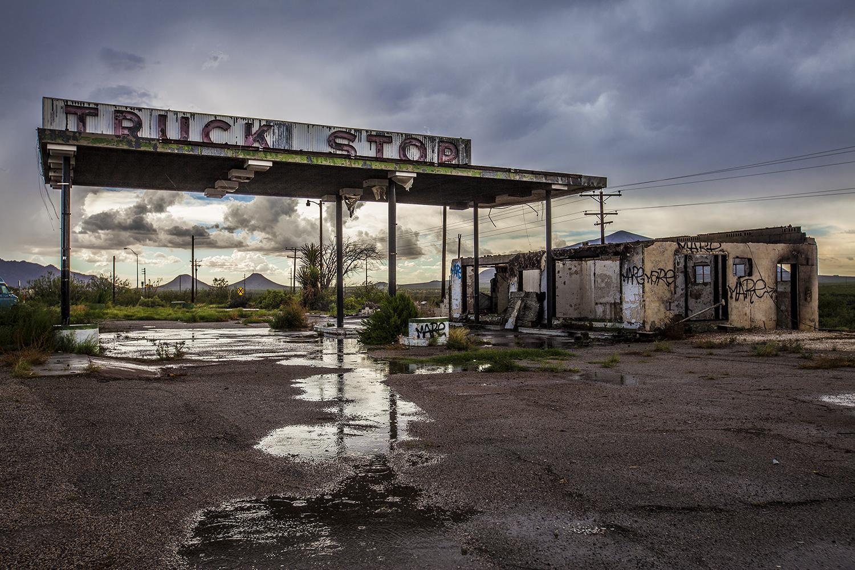 Truck Stop Rain Storm, Texas