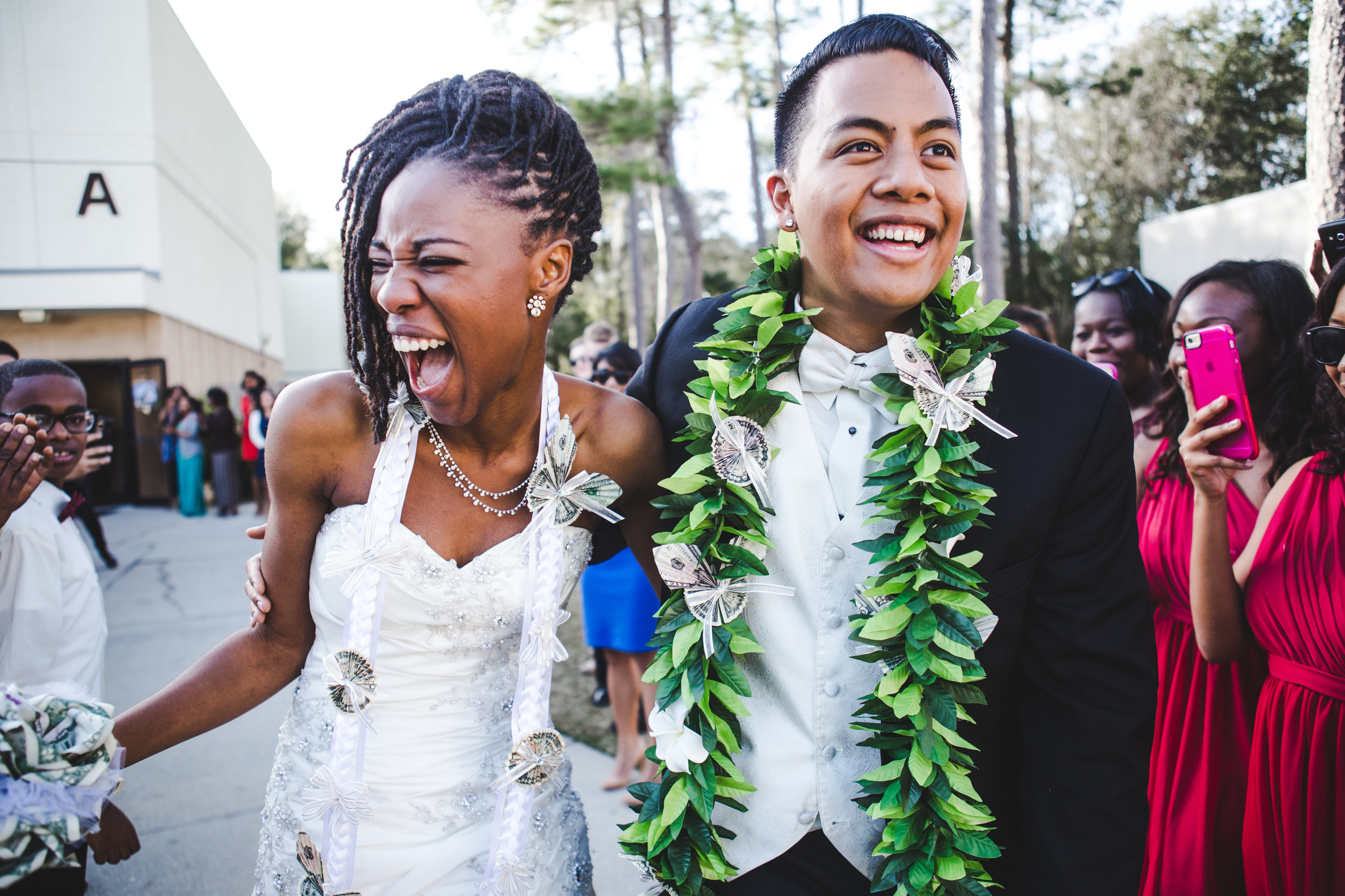 A wedding, engagement, love, newlywed image of an interracial married couple-taken by Miami Wedding Photographer, Javier Edwards of El Roi Photo, in Miami, Florida, for a Miami Wedding