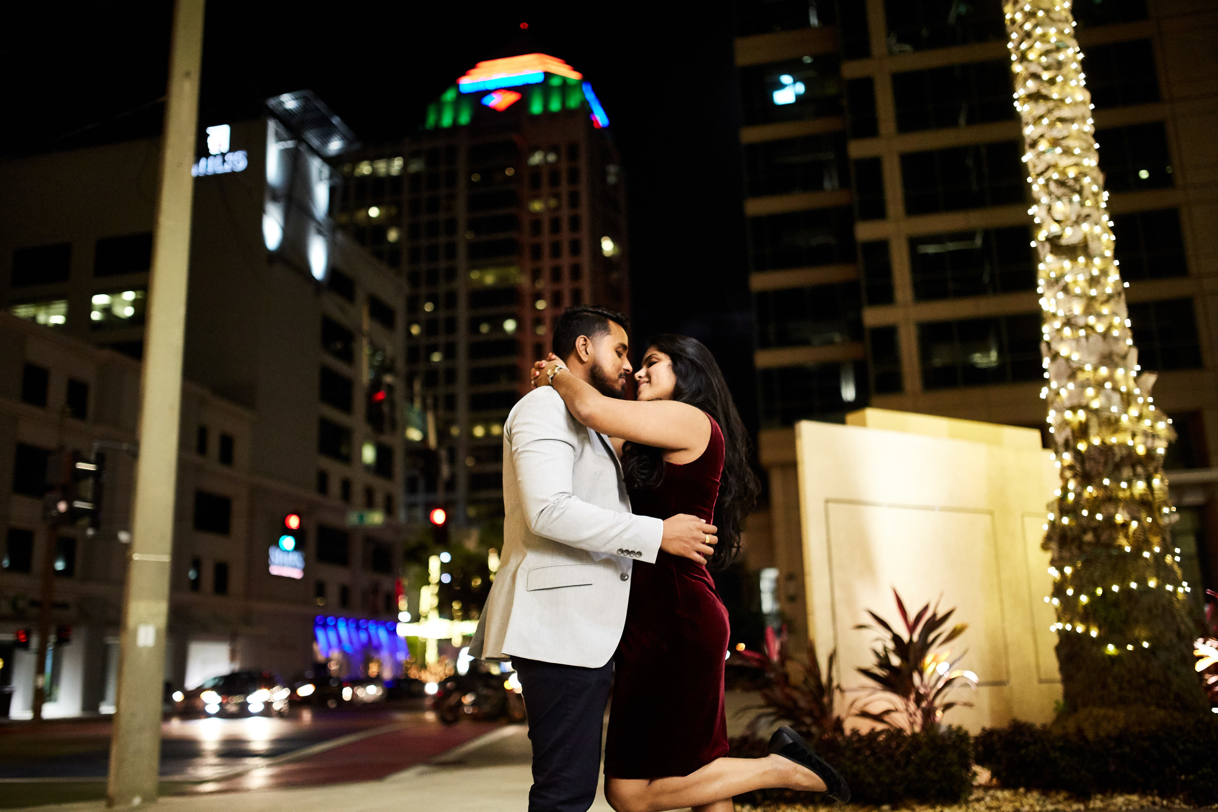 Engagement Photoshoot image at Las Olas in Downtown Fort Lauderdale. Image by photographerJavier Edwards of El Roi Photo - based in Miami, Fl