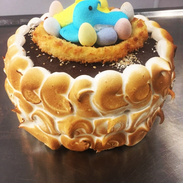 2018 Easter Chocolate Ice Cream Cake