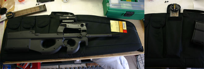 The gun fits fine..but the magazines are too long!