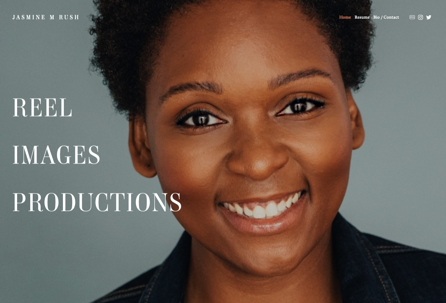 Actor Website for  Jasmine M Rush   Website Design by Iman