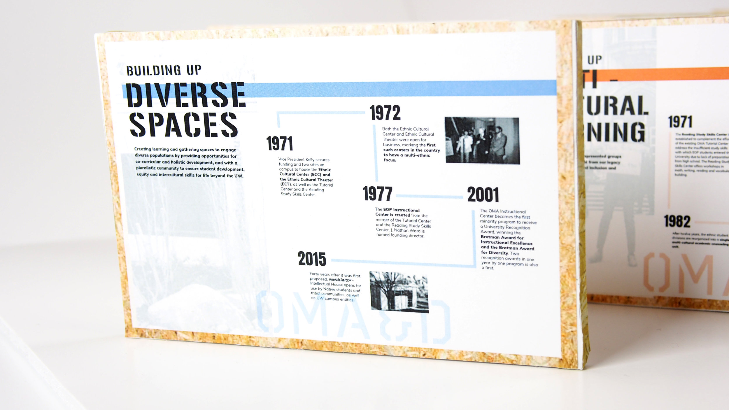 Building Up: Diverse Spaces. Creating learning and gathering spaces to engage diverse populations by providing opportunities for co-curricular and holistic development, and with a pluralistic community to ensure student development, equity, and intercultural skills for life beyond the UW.
